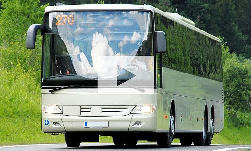 11 Jahriger Fahrt Bus Video Autozeitung De Bus Fahren Busfahrer