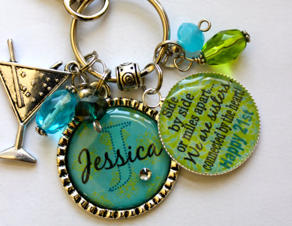 Personalized 21st Birthday Gift Name Sister Aunt Daughter Nana Grandma Best Friend Side By Miles Apart We Are Sisters Connected The Heart On Etsy 2599