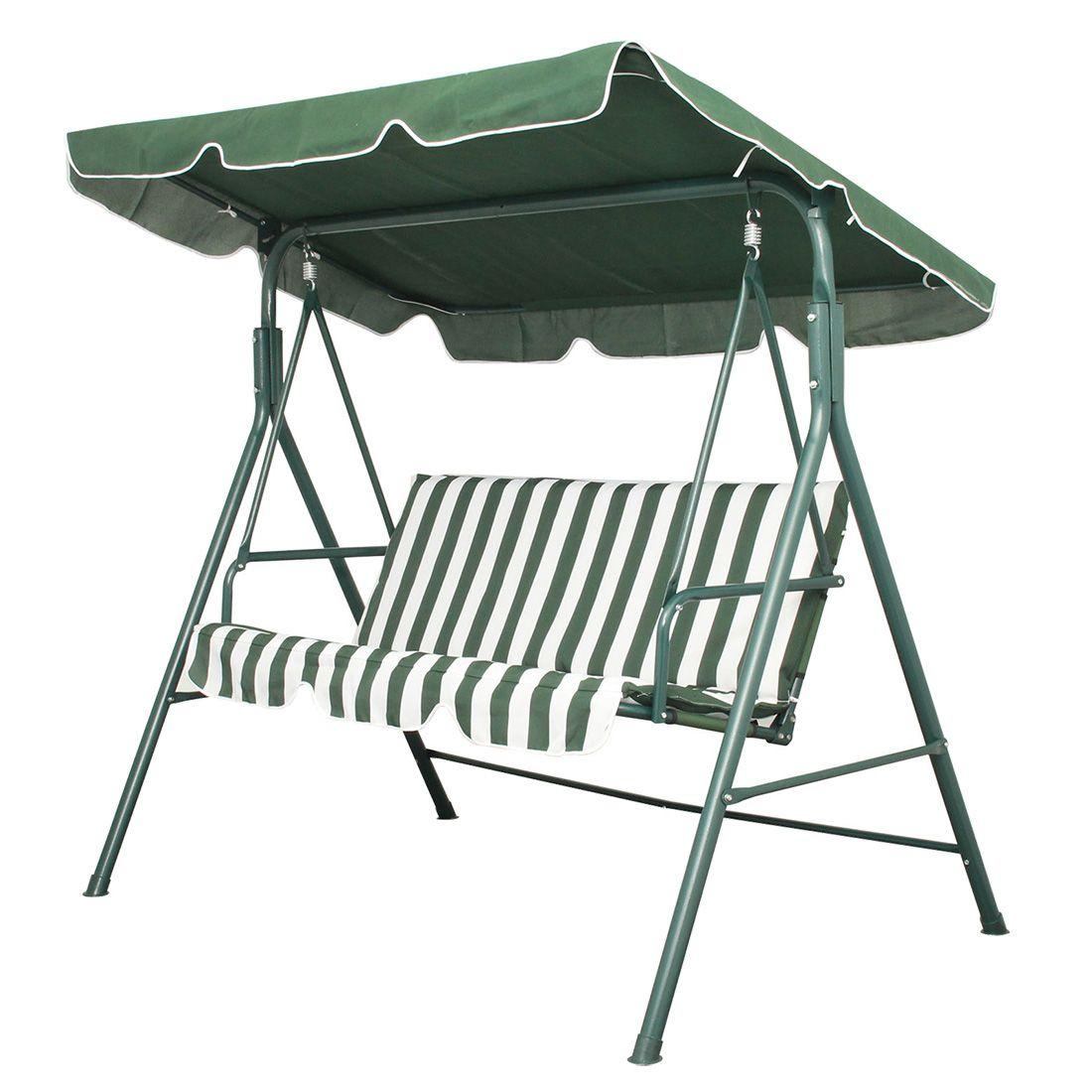 Nhbrgarden patio metal swing chair seat seater hammock bench