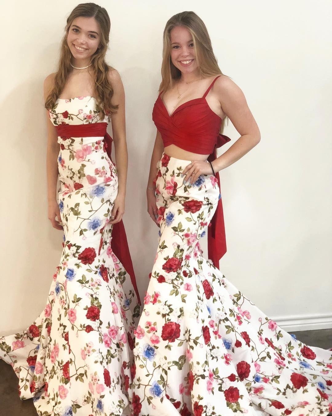 mermaid floral prom dresses, 2019 prom dresses, gorgeous
