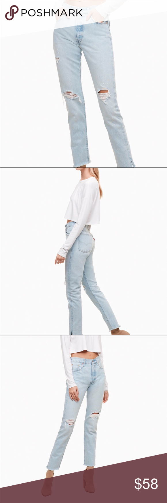 0e369fb3bf2 NWT Levi s 501 Skinny Jeans - sound visions PRICE IS FIRM.Retailers price is