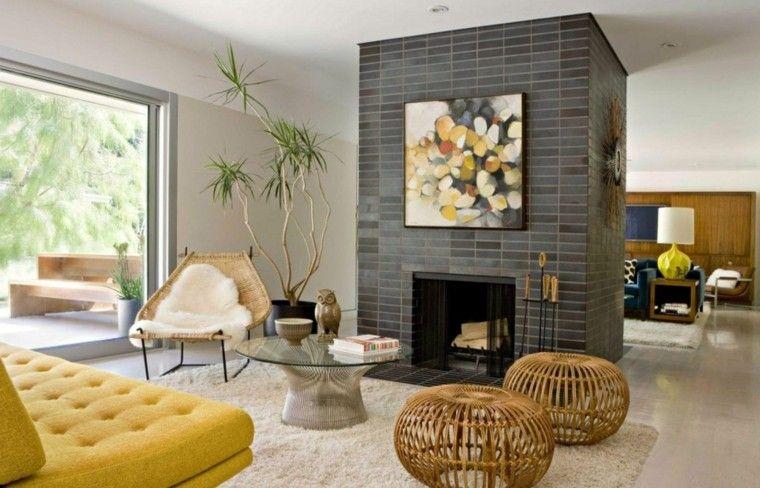 Salones con chimenea - cincuenta diseños acogedores   Diseño moderno ...
