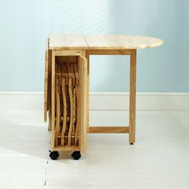 Possible Dinning Table Its Like Mine But In Wood With Chairs That Slot Inside Drop Leaf Table Leaf Table Dining Table Drop leaf table and chairs