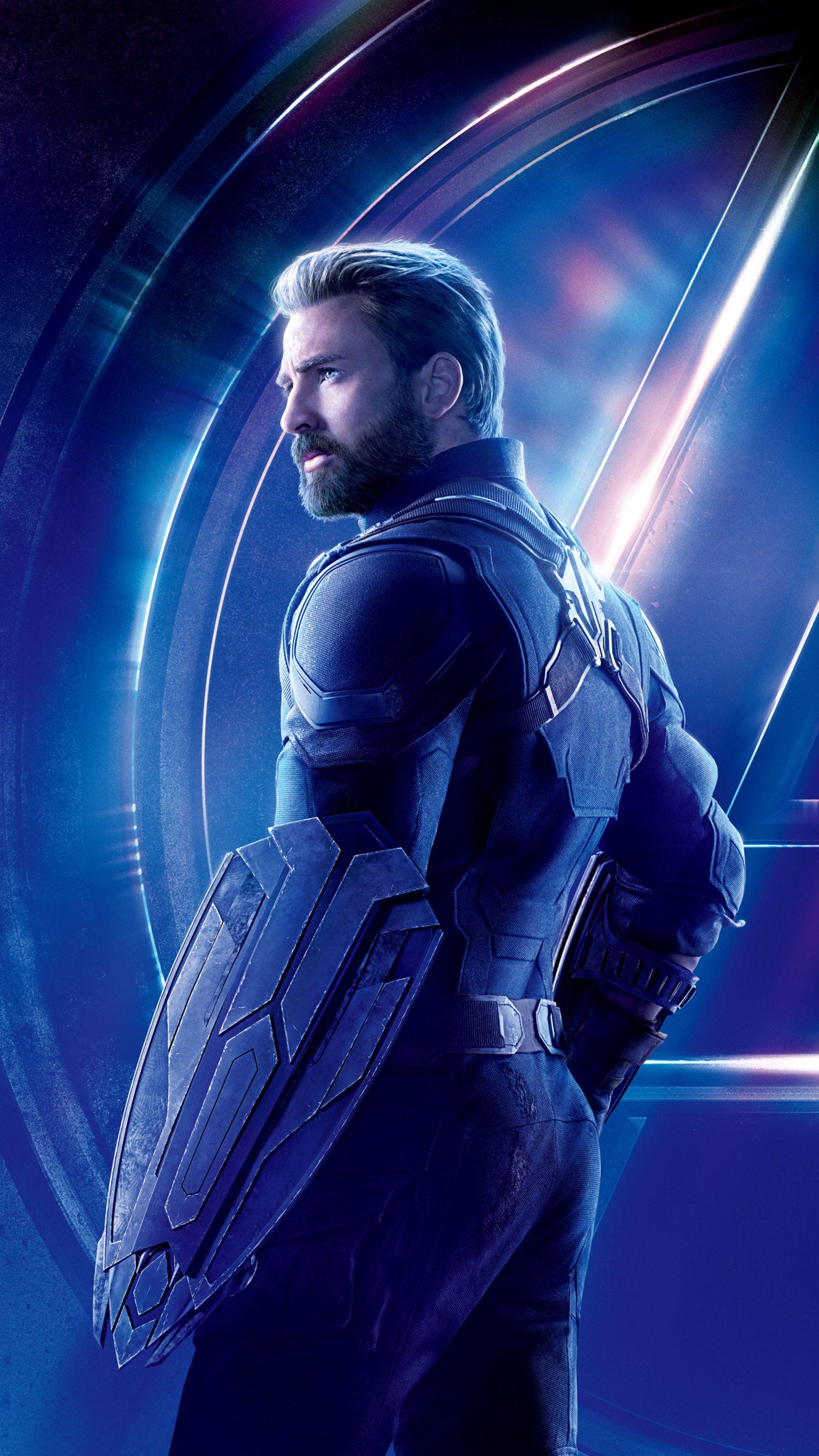 Captain America In Avengers Infinity War 8k Poster 7h 2160x3840 Jpg 2160 3840 Captain America Poster Avengers Poster Avengers Infinity War