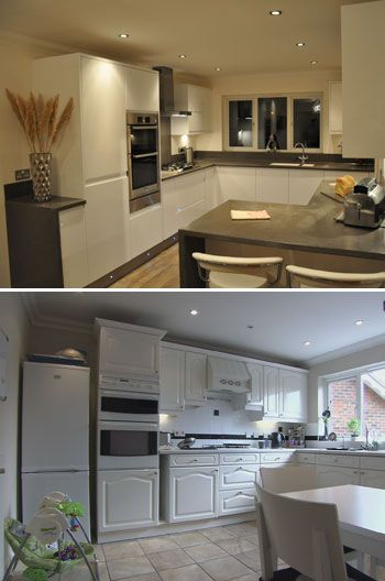 sleek white kitchen will look good in any home interior designer kerr drummond uses also best interiors images future house decor restroom rh pinterest