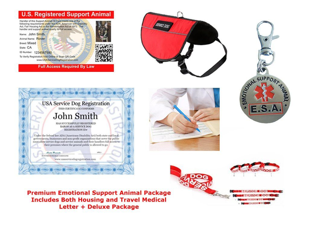 Emotional Support Animal Letter Premium Package Includes