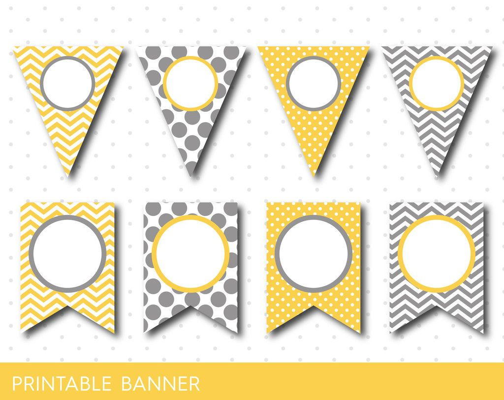 Yellow Party Banner Birthday Baby Shower