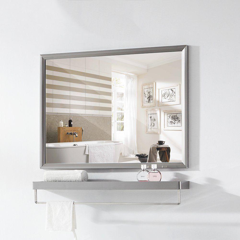 Stainless Steel Bathroom Mirror Frame Wall Mounted Vanity Mirror