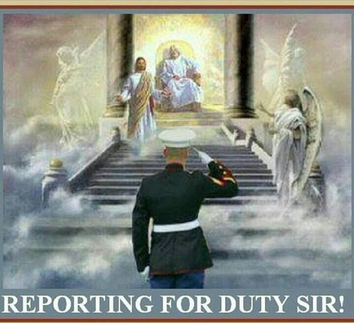 Image result for  marines saluting god