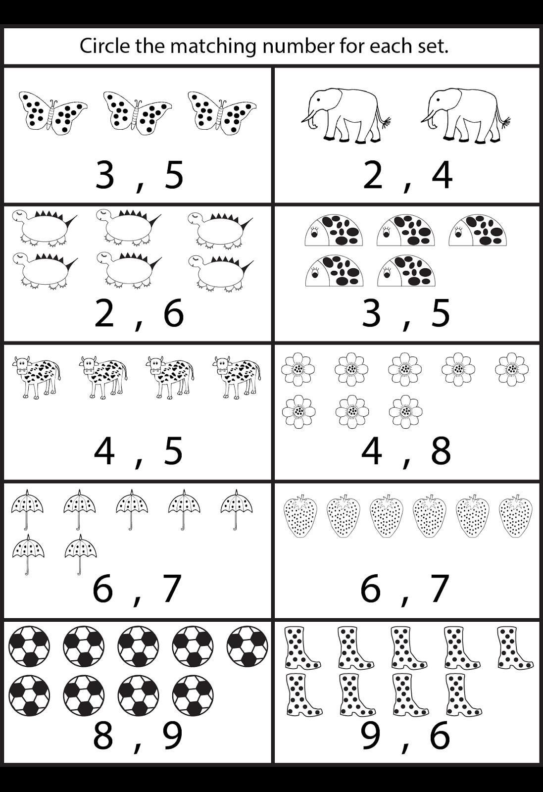 Counting worksheets for Kindergarten Pinteres