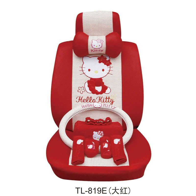 Hello Kitty Auto Car Seat Cover Cushion Set Red 19pc 24 In Covers