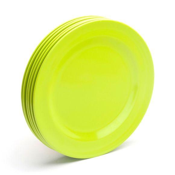 Lime Green Dinner Plates (Set of 6)  sc 1 st  Pinterest & Lime Green Dinner Plates (Set of 6) | kitchen. | Pinterest | Green ...