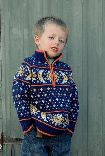 Intermediate to advanced free pattern child's v-neck Fair Isle ...