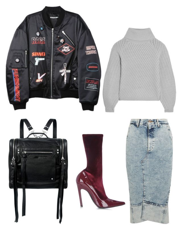 """NY winter"" by jadeang ❤ liked on Polyvore featuring Bassike, Balenciaga, Hyein Seo, Iris & Ink and McQ by Alexander McQueen"