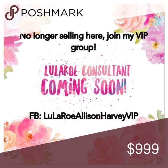 LuLaRoeAllisonHarveyVIP Join my VIP Facebook shopping group: LuLaRoeAllisonHarveyVIP 🦄💕🦄 LuLaRoe Tops
