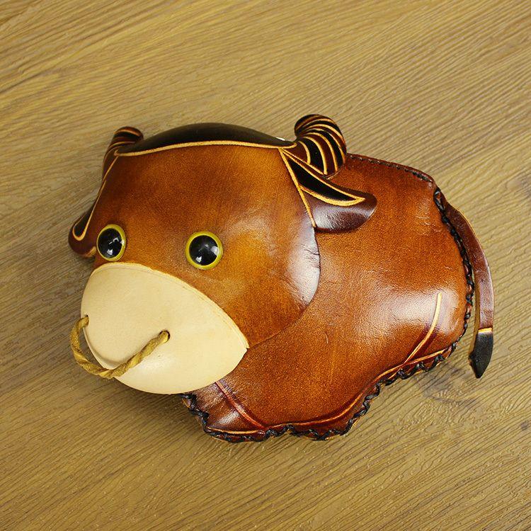 Bull Genuine Leather Wristlet Change Purse//Mini Bag