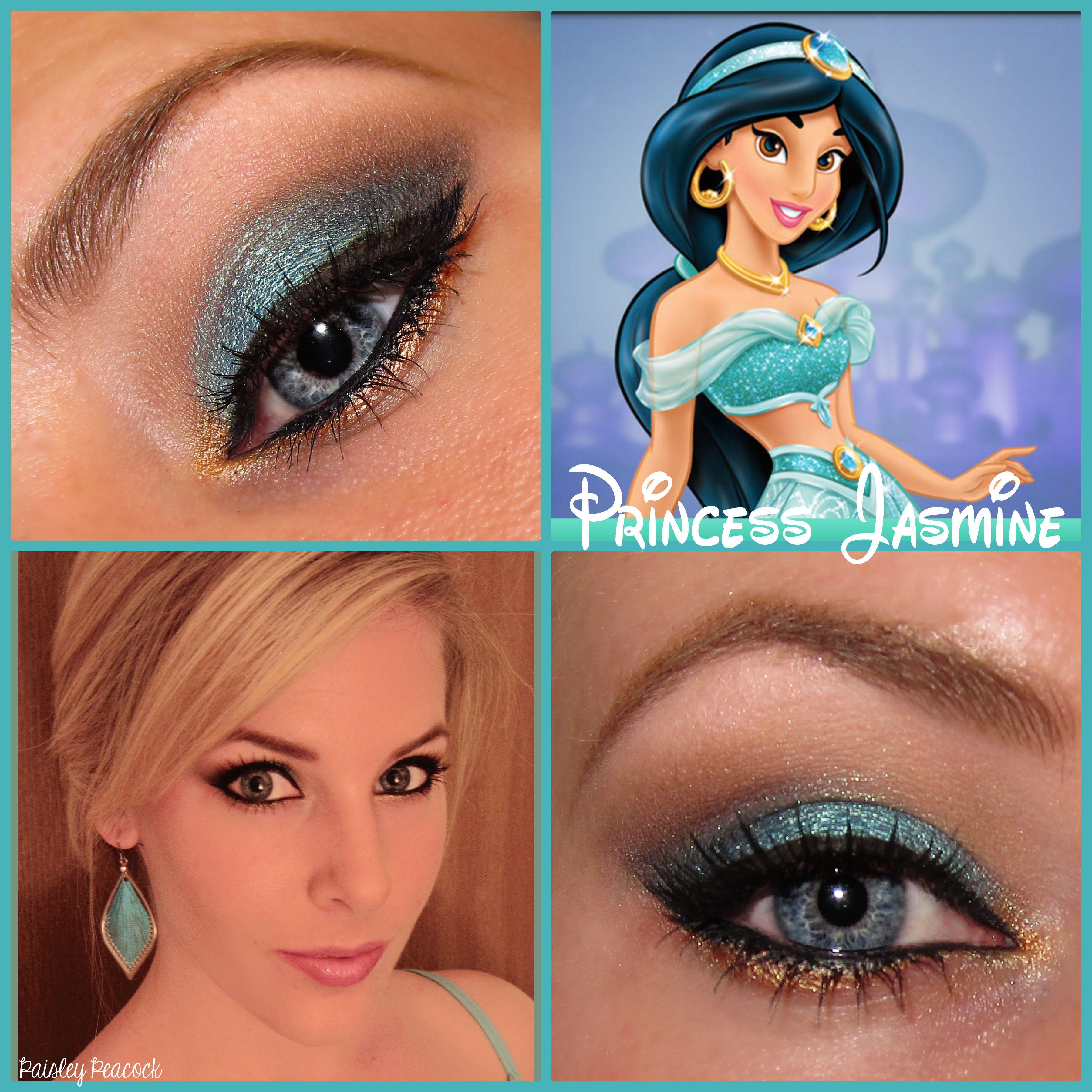 Jasmine Inspired Makeup Paisley Peacock Disney wedding