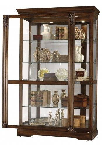 Delicieux 680 473 Ramsdell, Tuscany Cherry Finish, Howard Miller Curio Cabinet