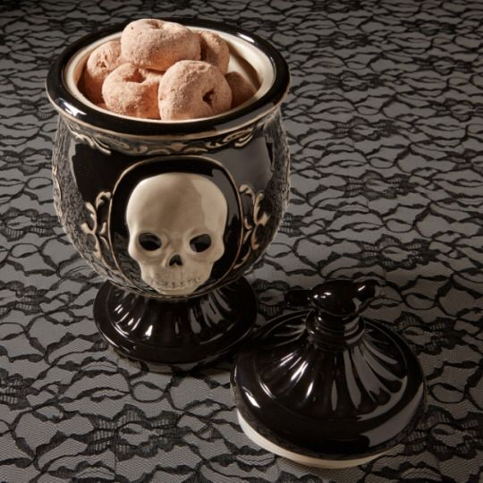 Victorian Gothic Skull Ceramic Jar | World Market