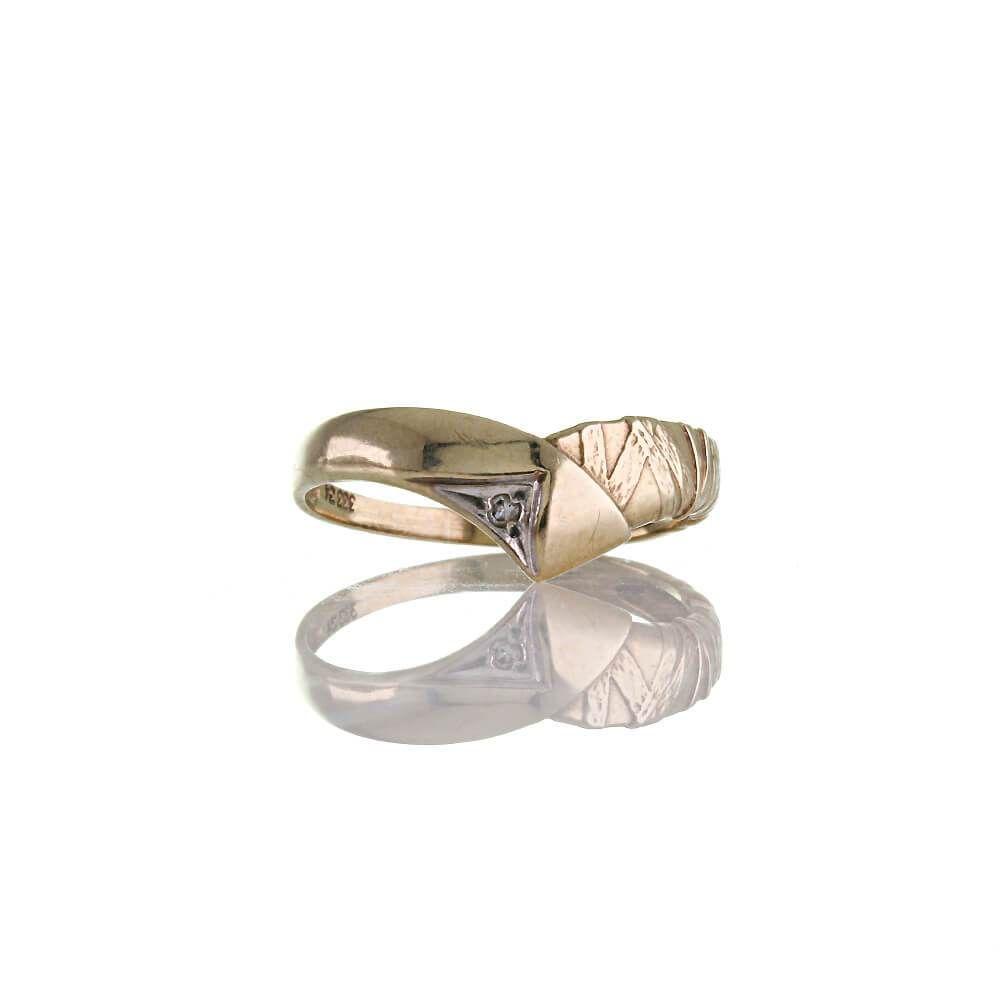 333 Gelbgold Ring mit Zirkonia Stein Größe 54 Brilliantschliff Breite 4,2 mm