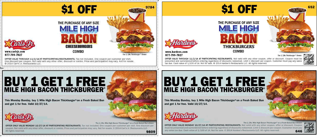 hardees coupons september 2019
