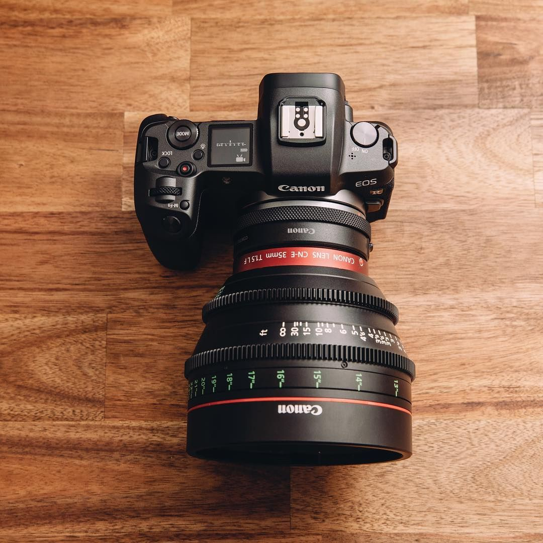 The Eos R With A Cine Lens Canon Camera Accessories Best Camera Camera Gear