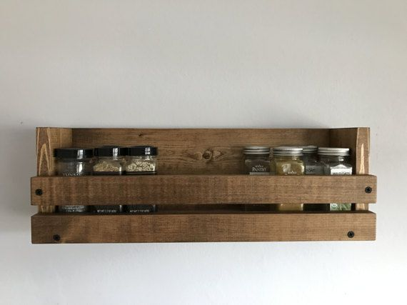Spice Rack Spice Organizer Rustic Spice Rack By Blackironworks Wall Mounted Spice Rack Spice Rack Rustic Farmhouse Decor