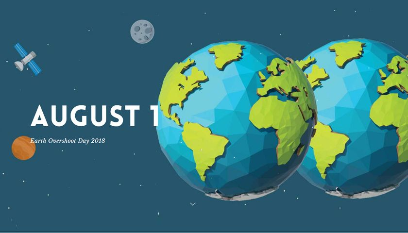 Earth Overshoot Day 2018 Is August 1 The Earliest Date Ever Earth Overshoot Day Overshoot Day Earth