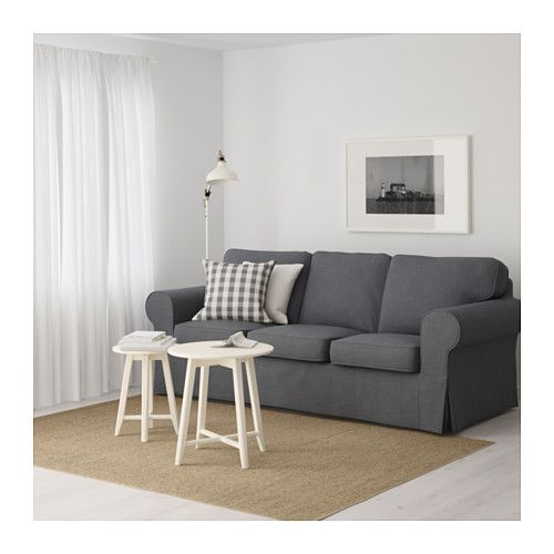 Ektorp Sofa Nordvalla Dark Gray Ektorp Sofa Three Seat Sofa Ikea Ektorp Sofa