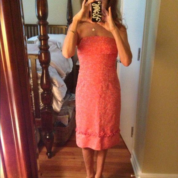Cynthia Rowley dress Cynthia Rowley orange and lavender flower print dress. Below the knee. Cynthia Rowley  Dresses