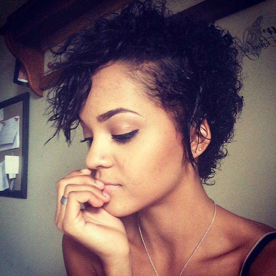 Hairstyles For Girls With Mixed Hair: Short Cut For Natural Hair #Biracial #Curly #Cut #Mixed