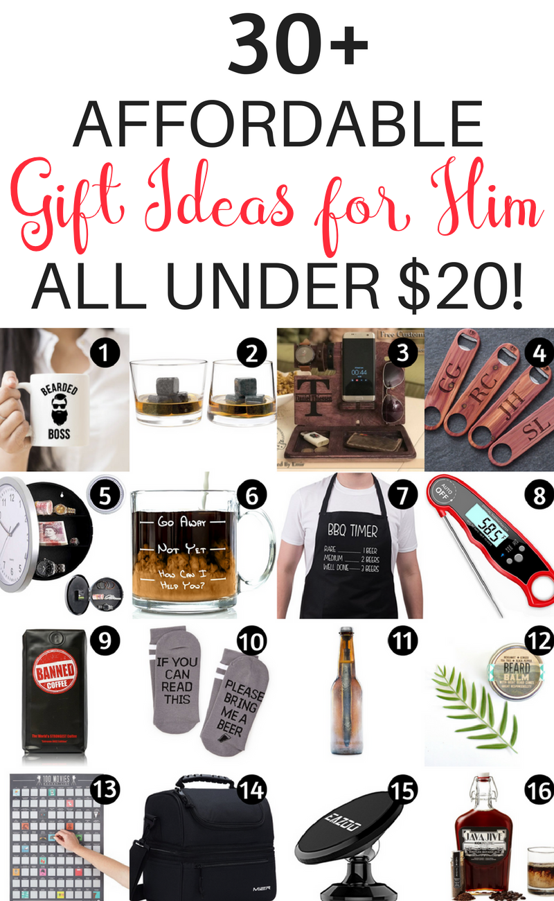 Are You Looking For Budget Gift Ideas Your Boyfriend Husband Or Other Important Men In Life These 31 Gifts Him Under 20 Will Make Shopping A
