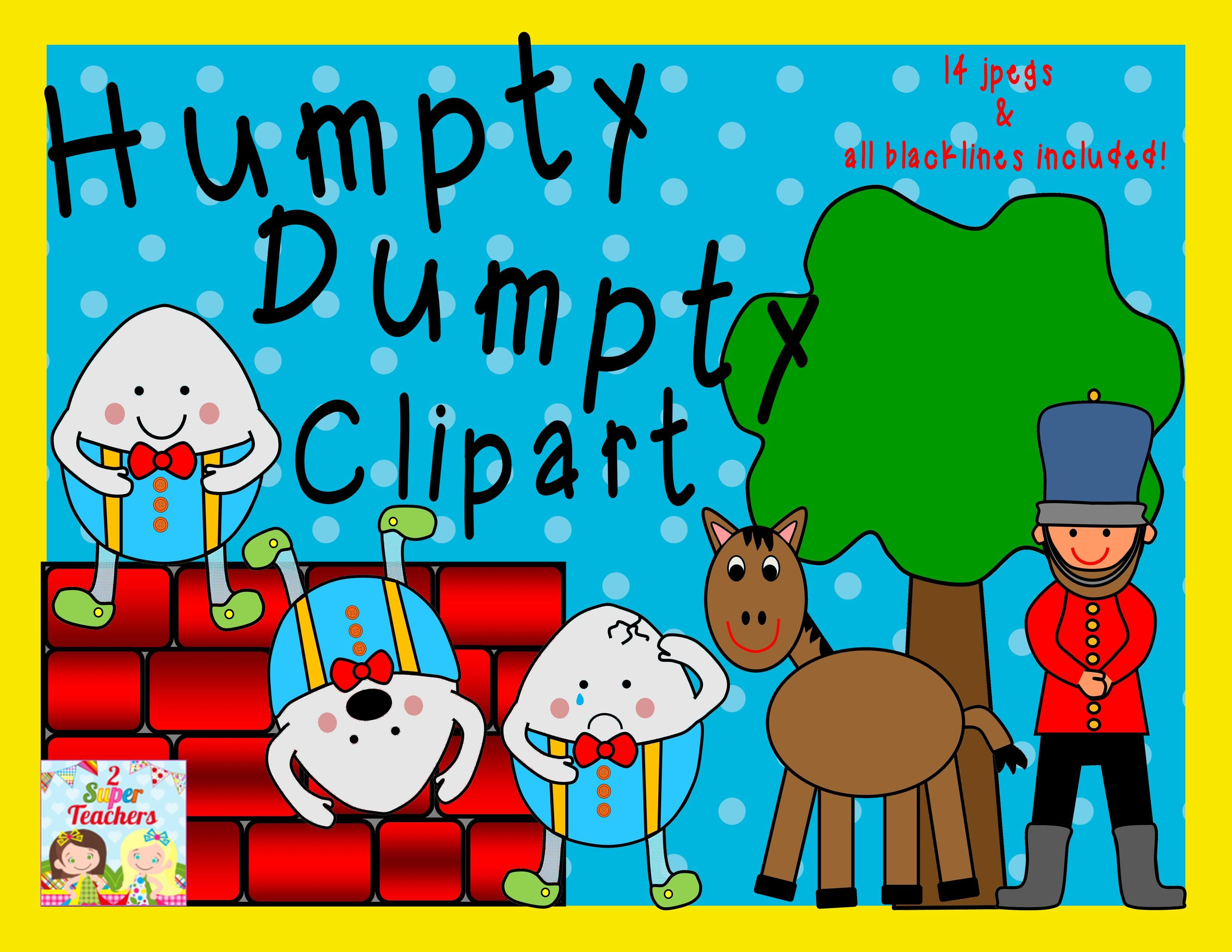 Clip Art Humpty Dumpty Clip Art 1000 images about who pushed humpty dumpty on pinterest clipart pack 14 jpegs all blacklines included 2super teachers