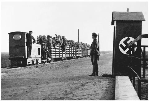 Jews, homosexuals and anti-nazi people being deported to concentration camps