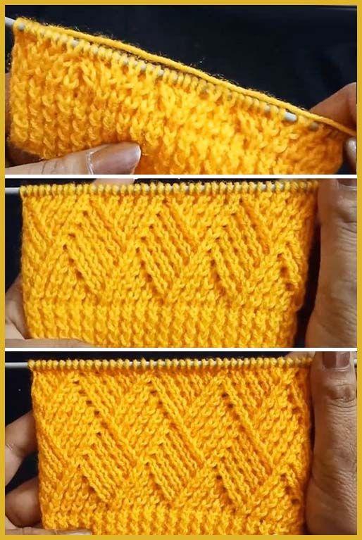 Knit Barfi Stitch – Easy Tutorial – stricken