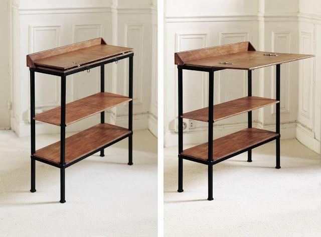 Bureau console DIY   principe général Déco  idées meubles