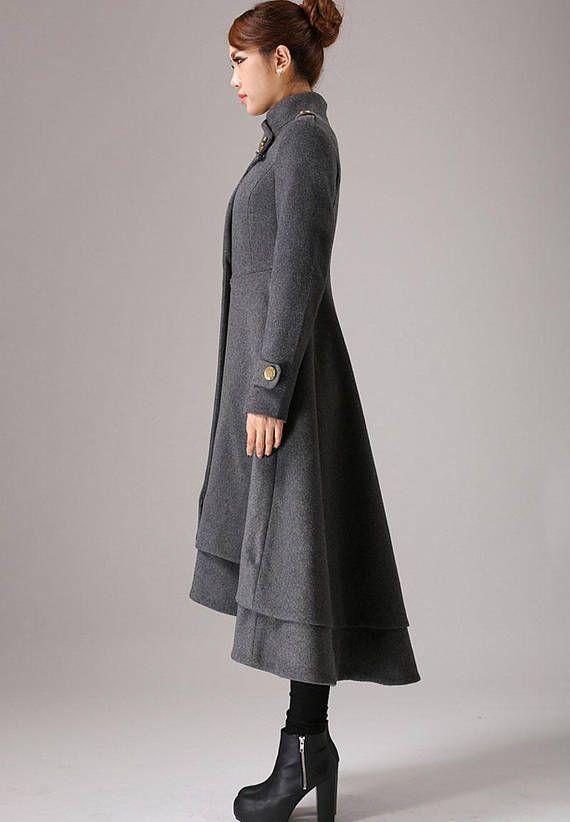 Manteau long jusqu'au mollet