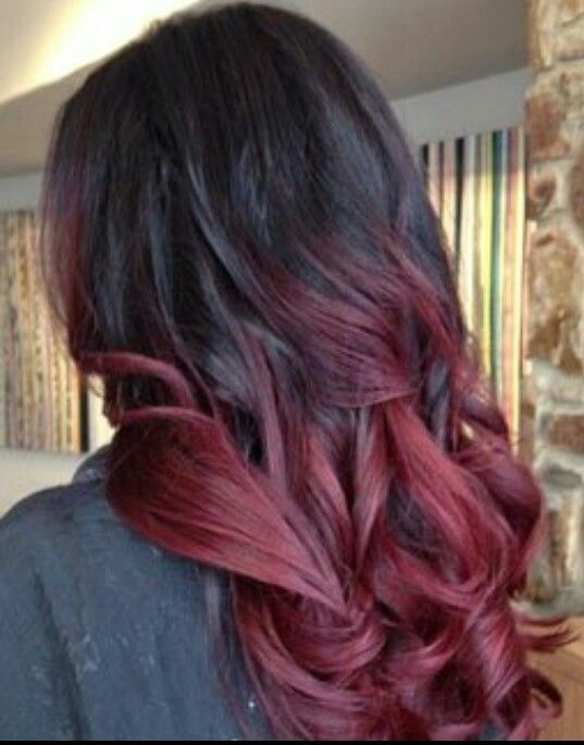 black to red ombre hair tumblr - Sök på Google | hairstyles ...