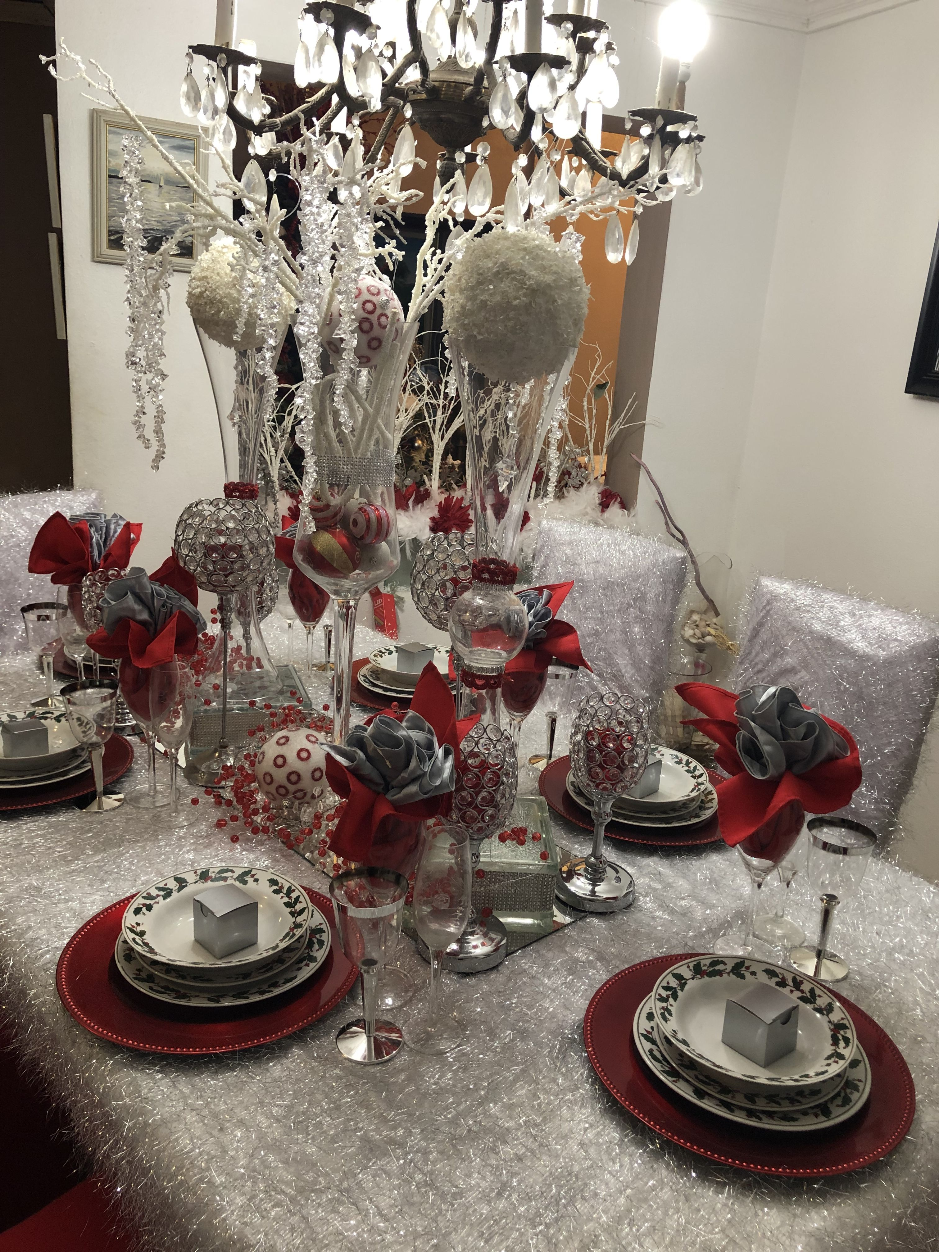 Christmas Table Setup By Personal Touch Bahamas Table