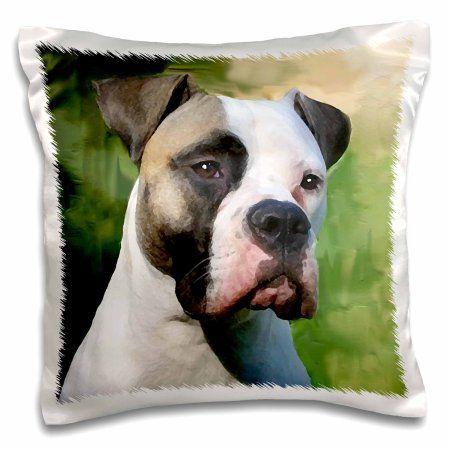 3drose American Bulldog Pillow Case 16 By 16 Inch American Bulldog Bulldog Bulldog Lover