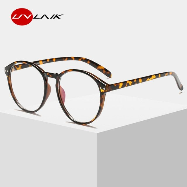 34fb67e7ea5cf UVLAIK Optical Clear Glasses Frame Men Women Vintage Round Eyeglasses Retro  Handmade Circle Clear Lens Transparent Glasses Review