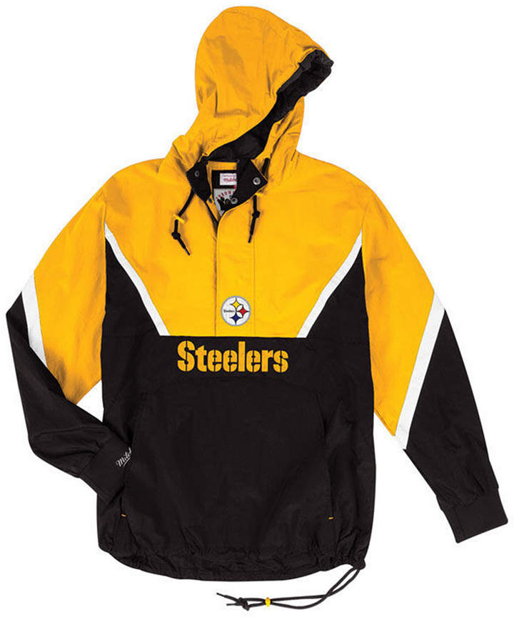 super popular 24594 2f7e9 Mitchell & Ness Men Pittsburgh Steelers Half-Zip Anorak ...