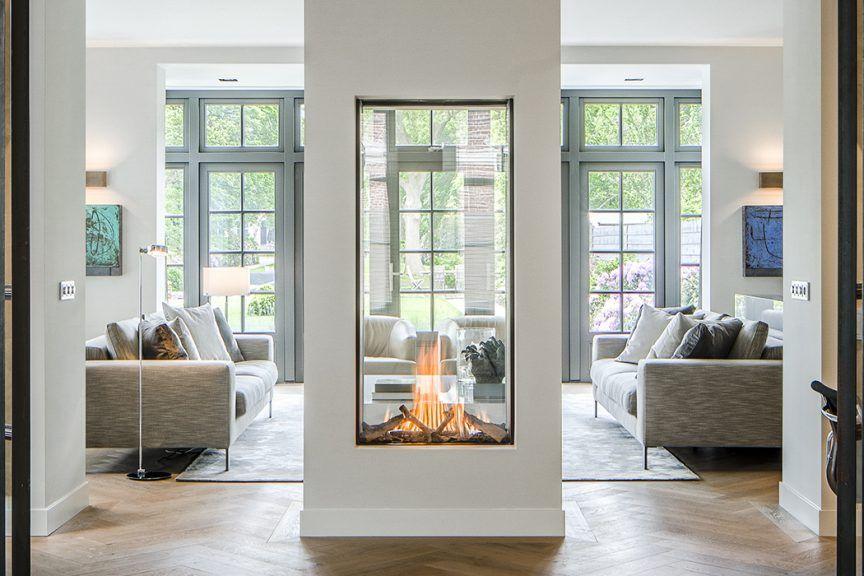 See Through Fireplace Vertical Fireplace Designer Fireplace Modern