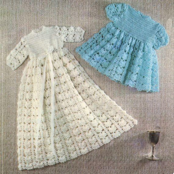 Christening Gowns Vintage Crochet PDF Pattern | Crochet Baby Items ...