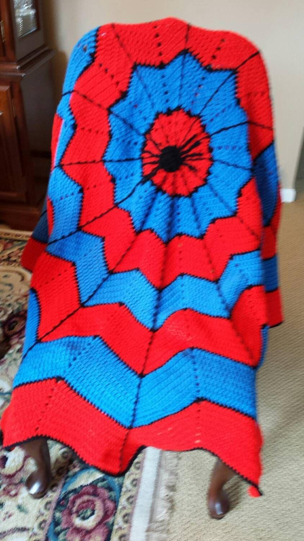 Spiderman Blanket by marybatchelor on Etsy | Crochet By Mary ...