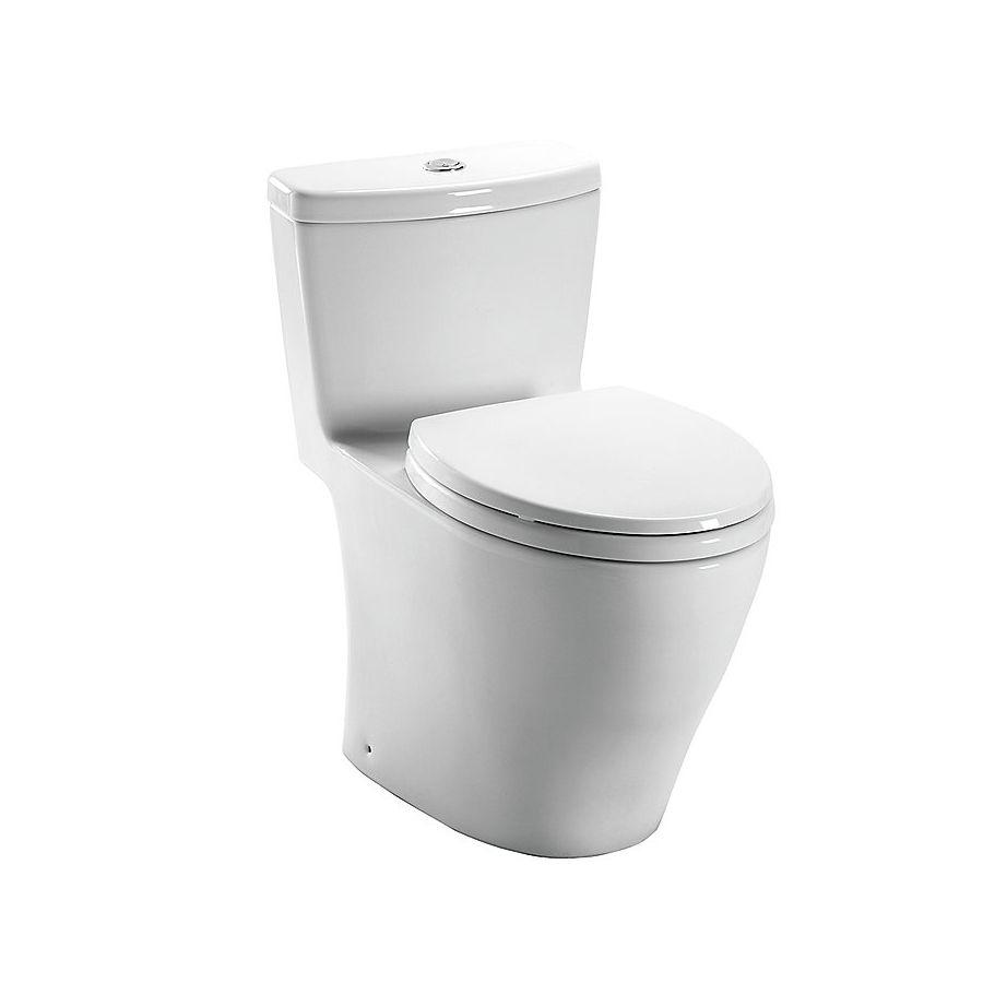 Toto Aquia Cotton White 1 6 0 9 Gpf 12 Rough In Watersense Elongated Dual Flush 1 Piece Chair Height Toilet Toilet One Piece Toilets Water Sense