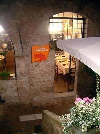 Osteria Il Campaccio Siena Italy Downstairs From Albergo