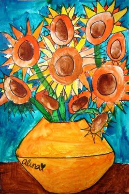 Van Gogh Sunflowers In 2019 Art History Projects For Kids