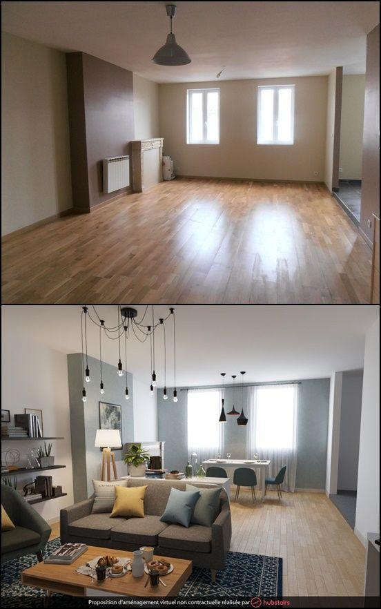 Nouveau Avant après relooking décoration salon | Agencement salon TS-83