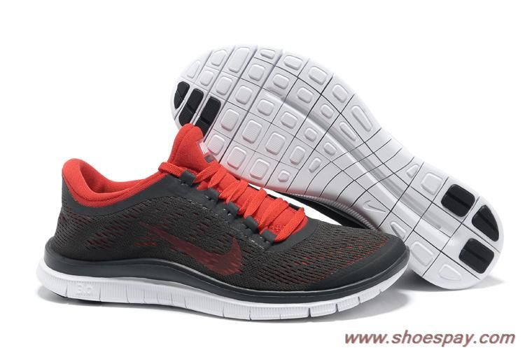 new concept 07f9f 8ca8a Men s Nike Free 3.0 V5 580393-061 Deep Grey Red